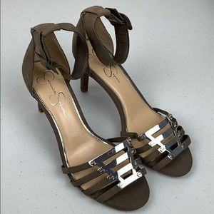 Jessica Simpson Gray Suede Heels Size 10